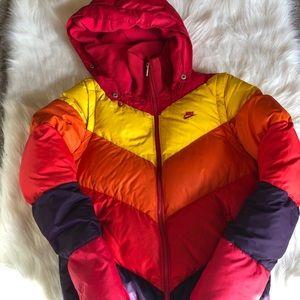 Rare 90s vintage jacket vest coat Nike small red